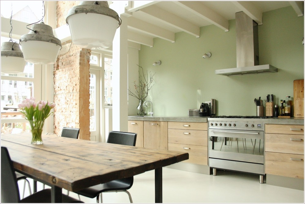 Wonderful Top Green Kitchen Pendant Lights Pertaining To Winsome Light Green Kitchen Colors (View 9 of 25)