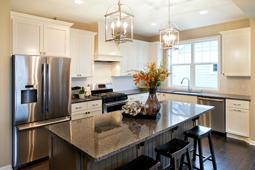 Wonderful Trendy Lantern Pendants For Kitchen Within Brass Lantern Lighting The Brass Lanterns Above The Island Are (View 14 of 25)