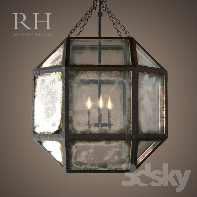 Wonderful Unique Octagon Pendant Lights With Regard To 3d Models Ceiling Light Rh Parisian Octagonal Pendant 3 Size (Image 24 of 25)
