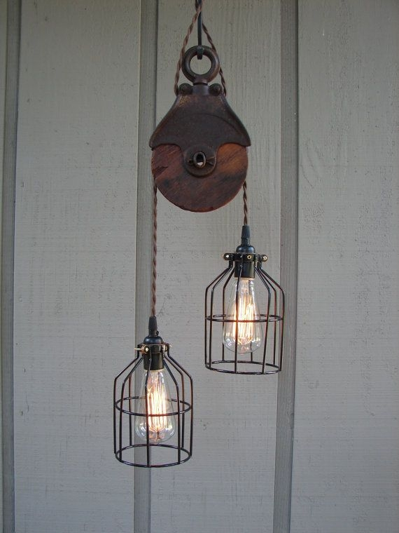Wonderful Variety Of Double Pulley Pendant Lights With Regard To 96 Best Industrial And Other Lighting Images On Pinterest (Image 23 of 25)