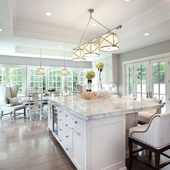 Wonderful Variety Of Grosvenor Pendant Lights Inside Grosvenor Triple Pendant Light Transitional Kitchen (View 4 of 25)