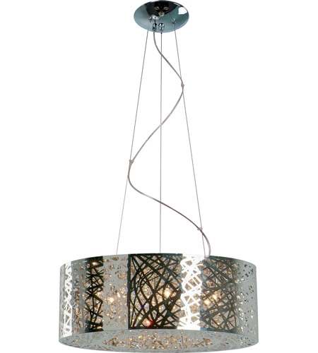 Wonderful Variety Of Inca 9 Light Pendants With Et2 E21308 10pc Inca 9 Light 24 Inch Polished Chrome Pendant (Image 23 of 25)