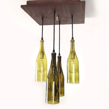 Wonderful Variety Of Wine Bottle Pendants With Shop Wine Chandelier On Wanelo (Image 24 of 25)