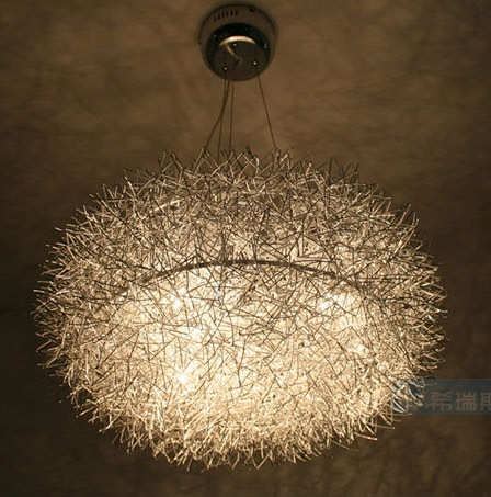 Wonderful Variety Of Wire Ball Light Pendants Intended For Aliexpress Buy 20 Aluminum Wire Nest Dining Room Pendant (Image 24 of 25)