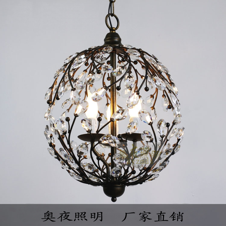 Wonderful Variety Of Wrought Iron Light Fittings Pertaining To American Wrought Iron Antique Lighting Spherical Crystal Lighting (Image 25 of 25)