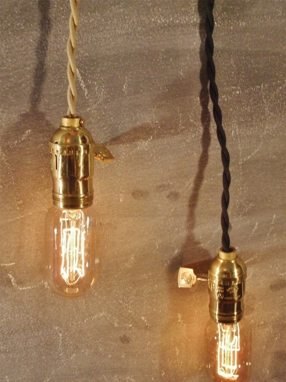 Wonderful Well Known Bare Bulb Pendants Inside Vintage Minimalist Industrial Bare Bulb Light Sockets (Image 25 of 25)