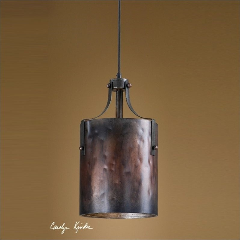 Wonderful Wellknown Copper Mini Pendant Lights With Regard To Uttermost Akron 1 Light Mini Pendant In Wash Copper  (Image 25 of 25)