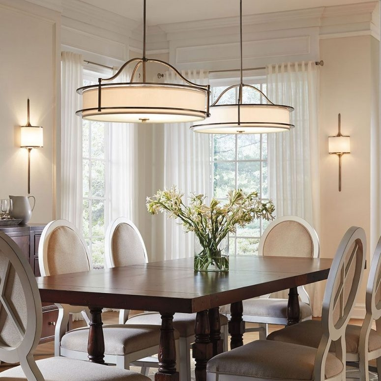 Wonderful Wellknown Ikea Drum Lights With Regard To Dining Room Lighting Ikea Dark Brown Varnished Wooden Dining Table (View 20 of 25)