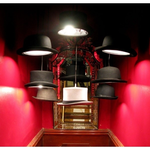 Wonderful Wellknown Jeeves And Wooster Pendant Lights Pertaining To Hats Off To The Bowler Hat Pendant Light Diy Inspiration (Image 25 of 25)