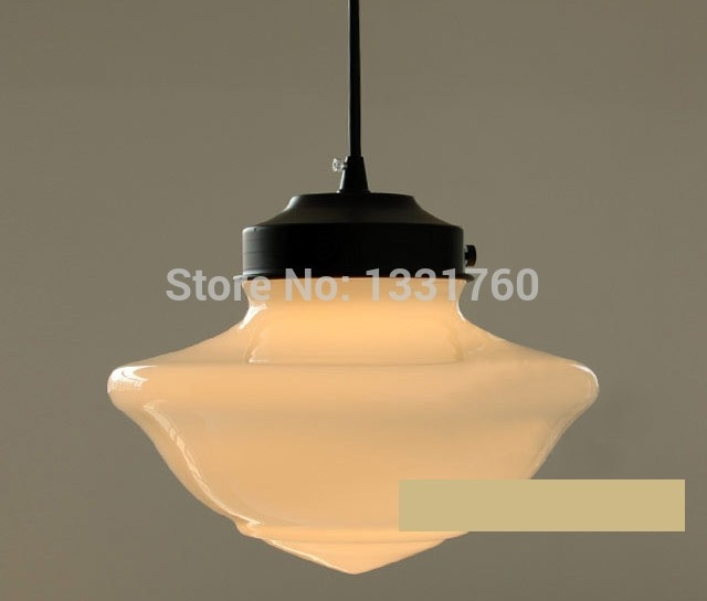 Wonderful Well Known Milk Glass Pendant Lights Pertaining To Aliexpress Buy Art Deco Suspension Lamp Dinning Room Vintage (Image 25 of 25)