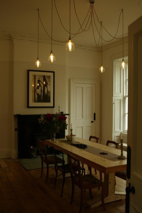 Wonderful Widely Used Bare Bulb Hanging Pendant Lights Regarding Home Decor Home Lighting Blog Blog Archive Industrial (Image 25 of 25)