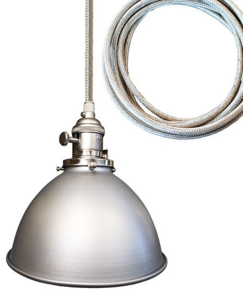Wonderful Widely Used Stainless Steel Pendant Lights Inside Metal Factory Industrial Stainless Steel Cord Pendant Light (Image 25 of 25)