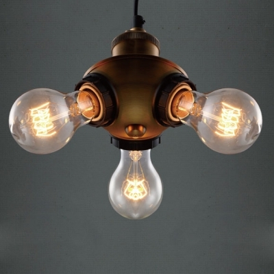 Wonderful Widely Used Three Light Bare Bulb Pendants Intended For Fashion Style Pendant Lights Multi Light Pendants 3 Industrial (Image 25 of 25)
