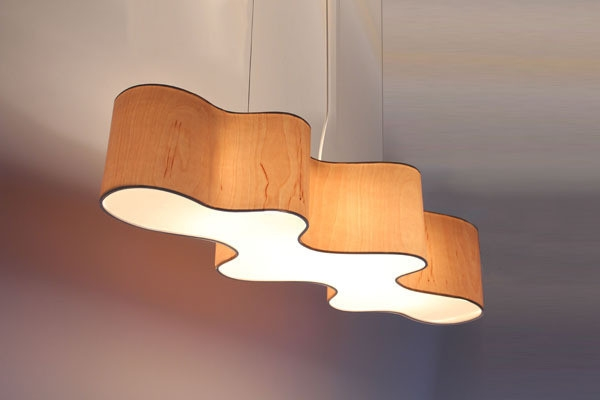 Wonderful Widely Used Wood Veneer Light Fixtures For Lampa Cloud Mesa Lampa Cloud Mesa Pendant Light (View 7 of 25)