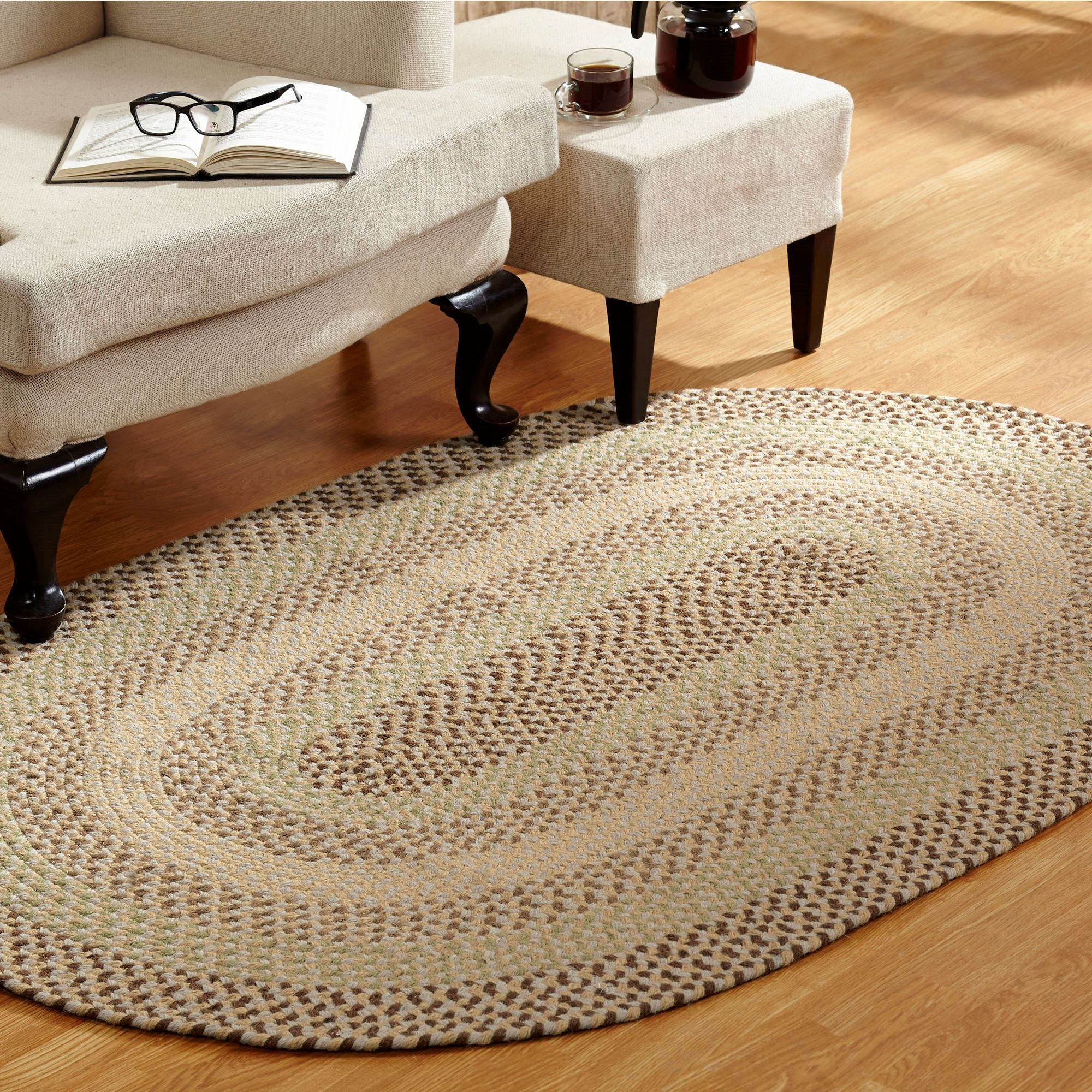 Woodbridge Reversible Braided Area Rugs Inside Oval Rugs (Image 14 of 15)