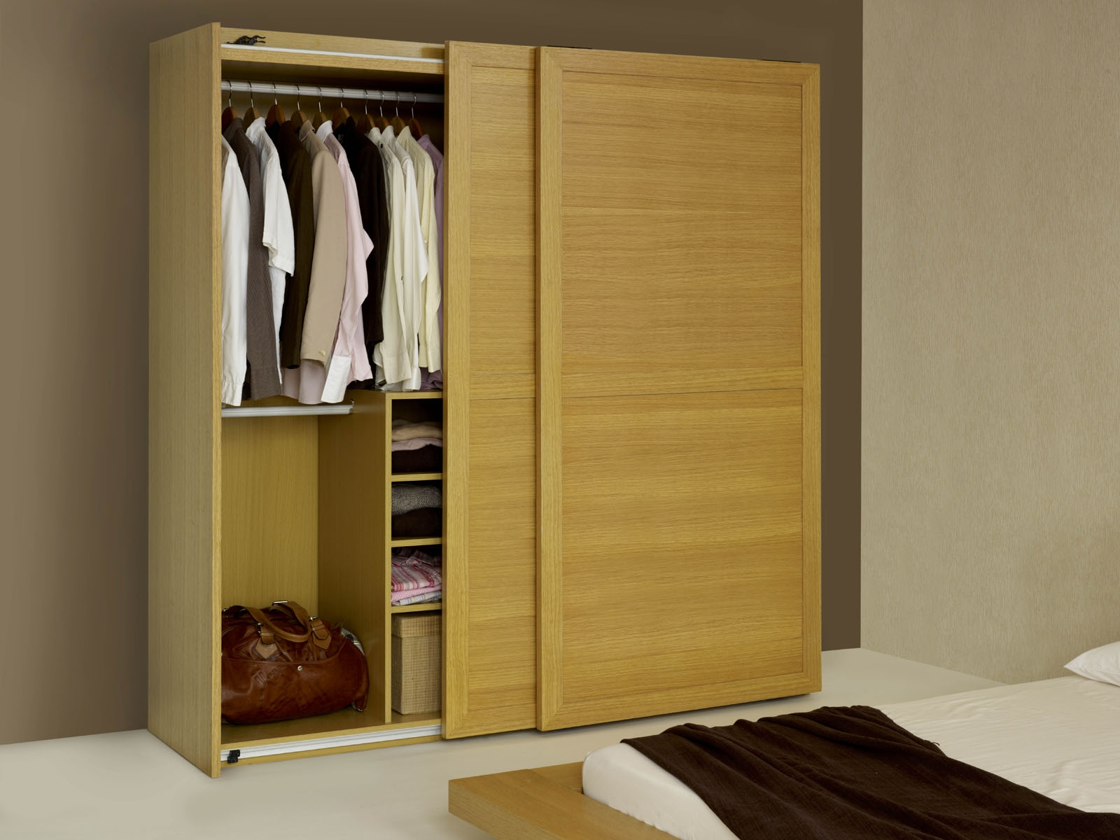 Wooden Sliding Wardrobe Hpd434 Sliding Door Wardrobes Al Habib In Cupboard Sliding Doors (Image 25 of 25)