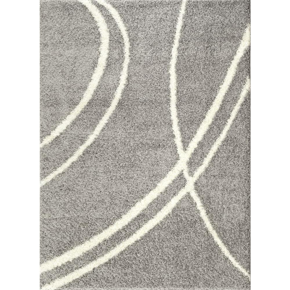 World Rug Gallery Soft Cozy Contemporary Stripe Light Graywhite 7 For Light Grey And White Rugs (Image 15 of 15)