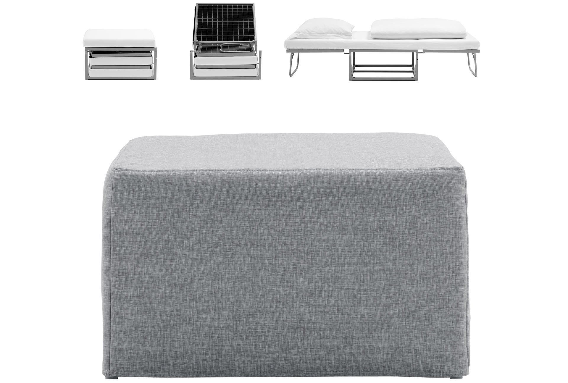 Xtra Poufbed Easily Converts From A Footstool To A Bed For Intended For Footstool Pouffe Sofa Folding Bed (Image 15 of 15)