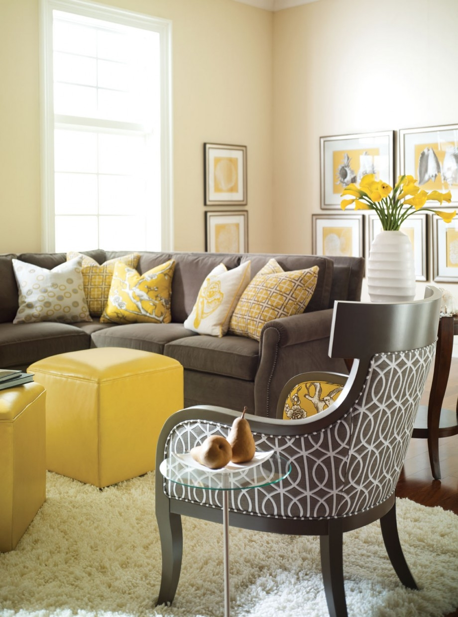 Yellow And Gray Rooms Grey Room For Yellow Sofa Chairs (Photo 13 of 15)