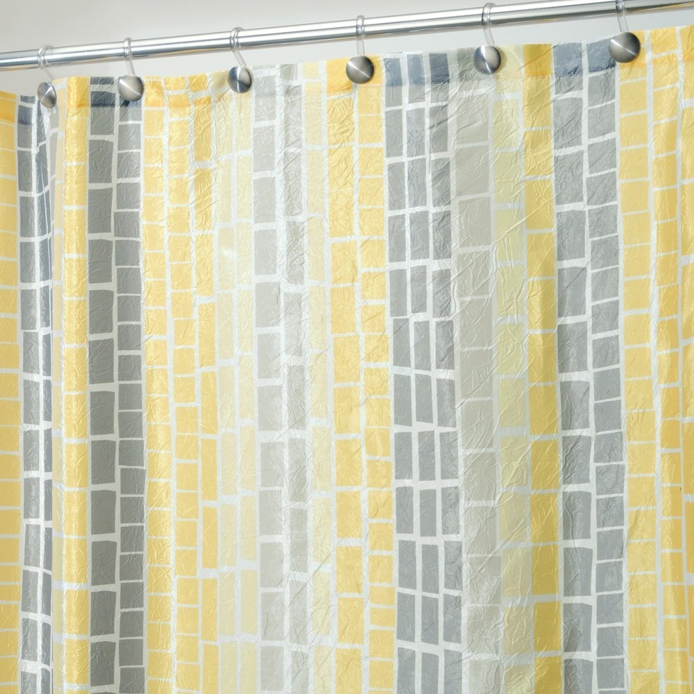 Yellow And Grey Chevron Shower Curtain Interdesign Chevron Shower Intended For Gray Chevron Shower Curtains (Image 24 of 25)