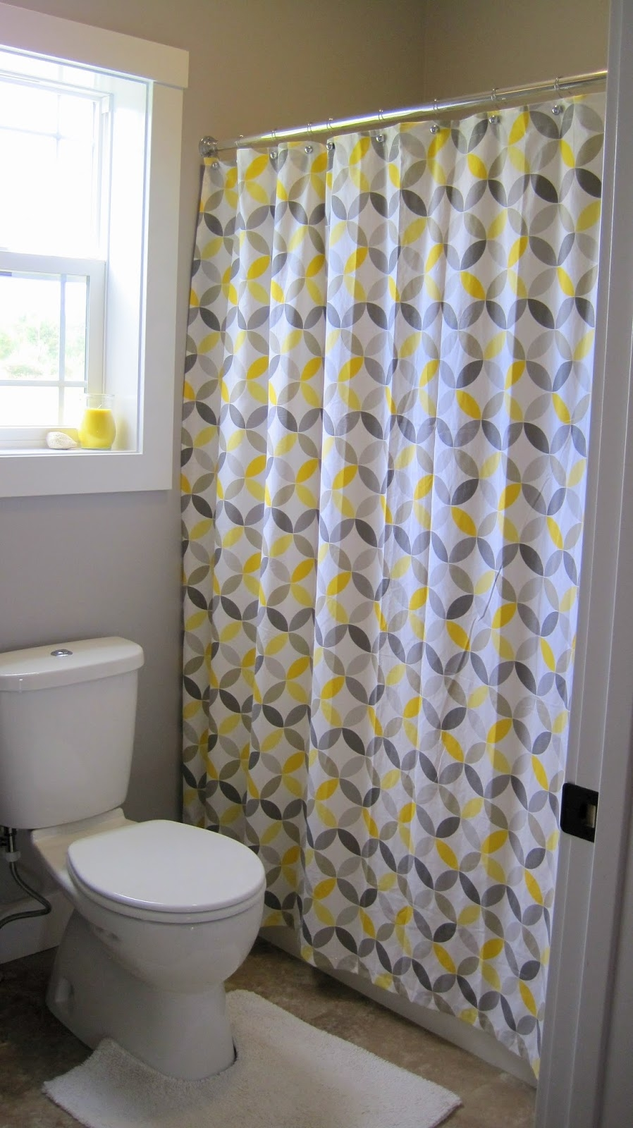 Yellow And Grey Chevron Shower Curtain Interdesign Pertaining To Gray Curtains