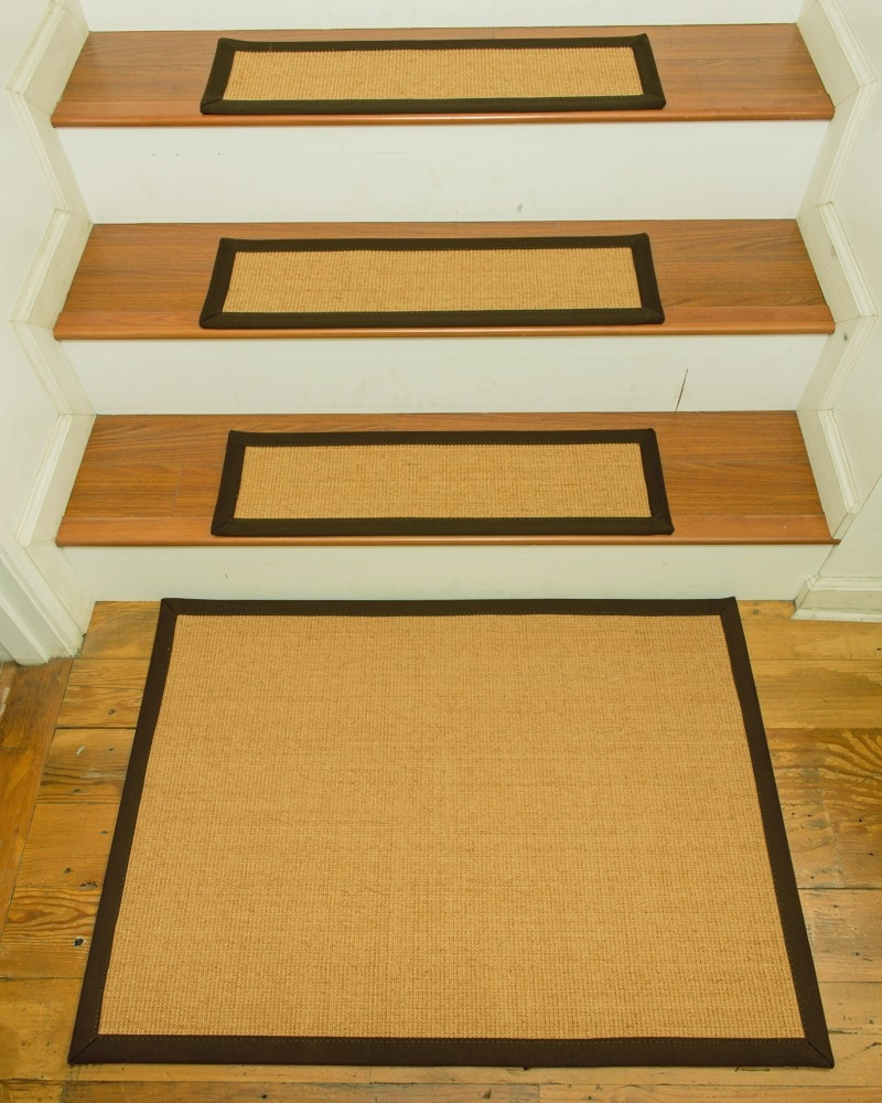 Zamora Carpet Stair Treads 9 X 29 Set Of 13 W Landing Mat 2 X Within Stair Treads Landing Rug (Image 15 of 15)