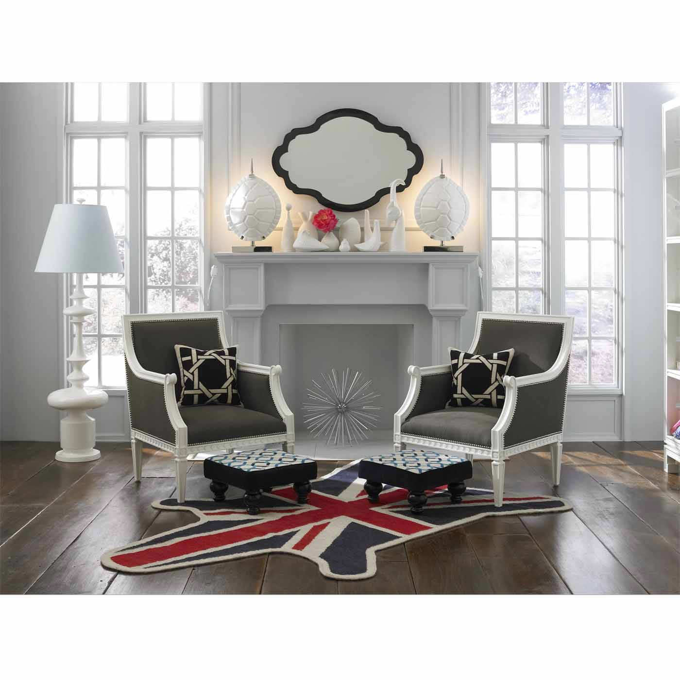 Zebra British Flag Peruvian Llama Flat Weave Rug Modern Holding Regarding British Flag Rugs (Image 14 of 15)