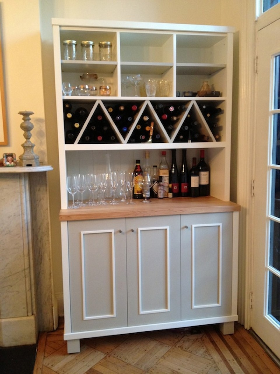 Zigzag Shaped Wine Racks With Multi Purposes Kitchen Wall Storage With Regard To Storage Racks For Kitchen Cupboards (Image 25 of 25)