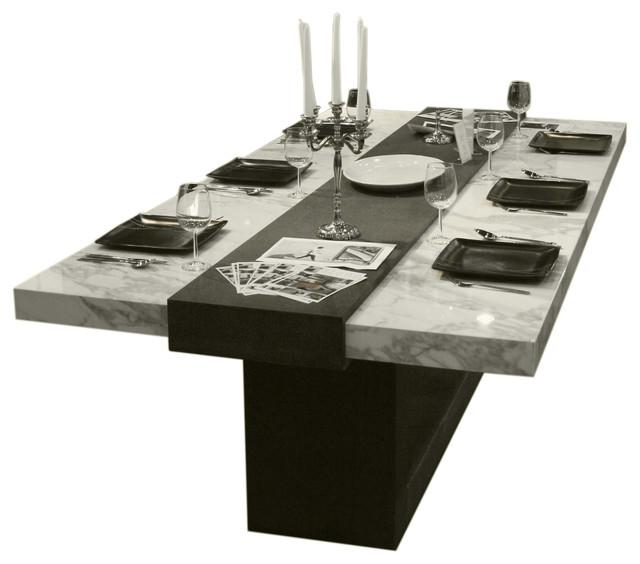 1 Contemporary Furniture Stone Dining Table | Kobe Table Throughout Metro Dining Tables (Image 1 of 20)