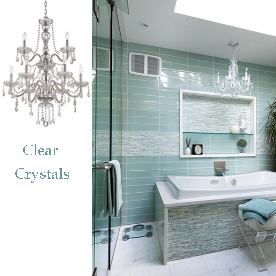 10 Bathroom Lighting Ideas With Crystal Chandeliers Home In Crystal Chandelier Bathroom Lighting (Image 1 of 25)