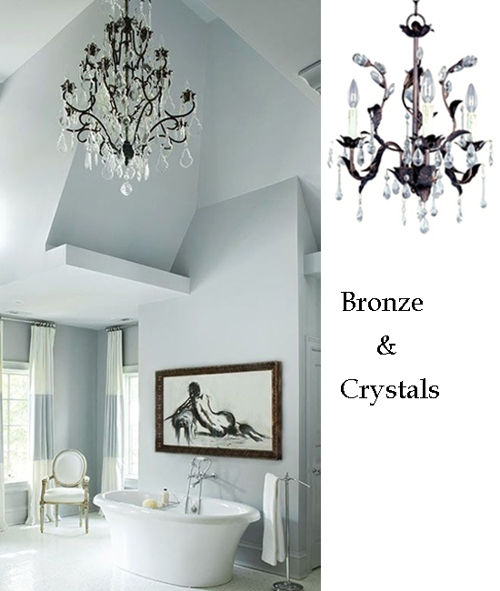 10 Bathroom Lighting Ideas With Crystal Chandeliers Home Within Crystal Chandelier Bathroom Lighting (Image 3 of 25)