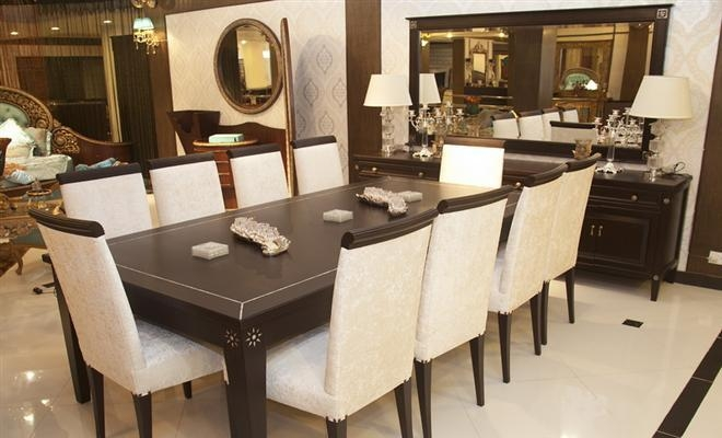 10 Chair Dining Table | Prince Furniture Inside 10 Seater Dining Tables And Chairs (Image 1 of 20)
