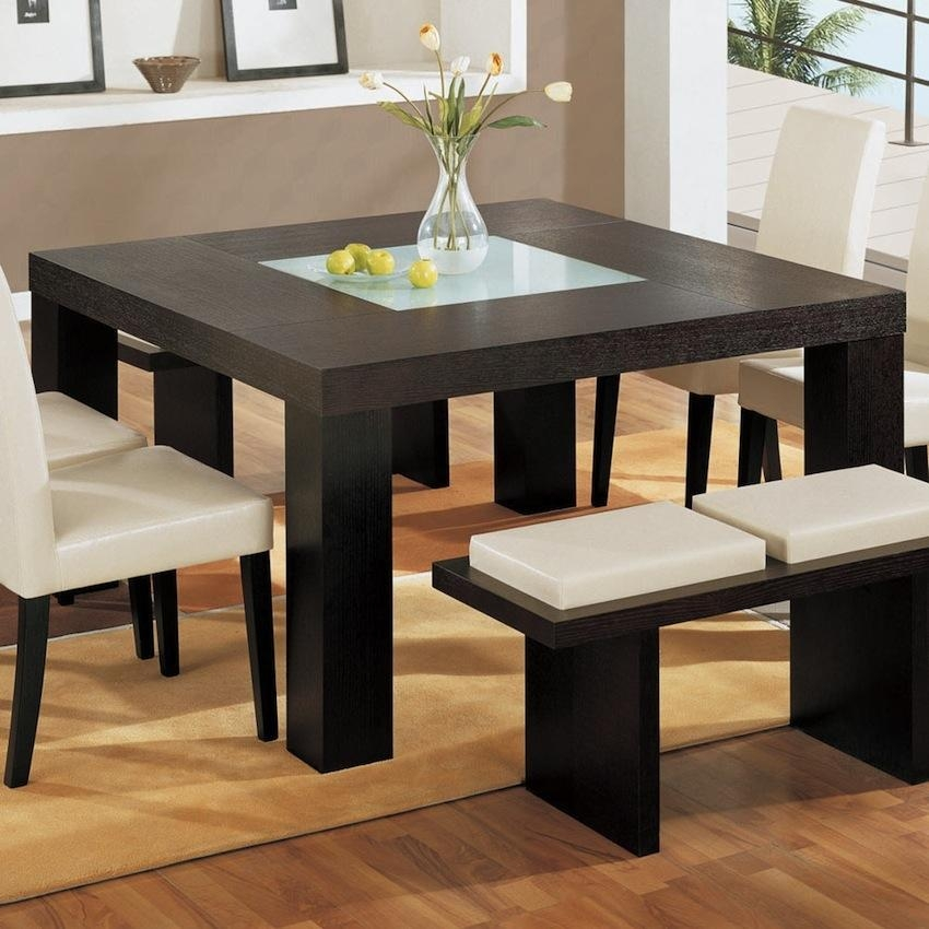 10 Charming Square Dining Table Ideas To Glam Up Your Home Décor Regarding Square Dining Tables (Image 1 of 20)