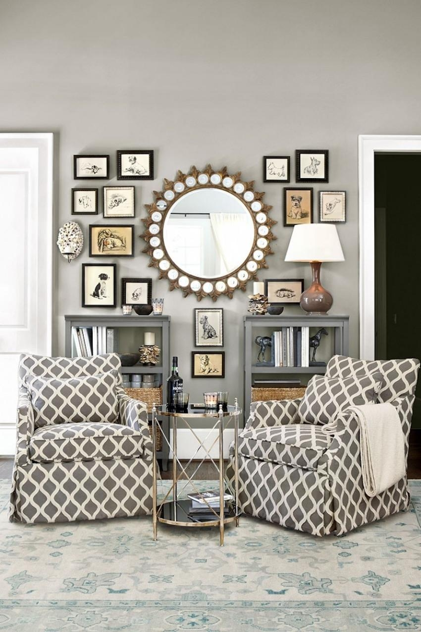 10 Dazzling Round Wall Mirrors To Decorate Your Walls Inside Circular Wall Mirrors (Image 1 of 20)