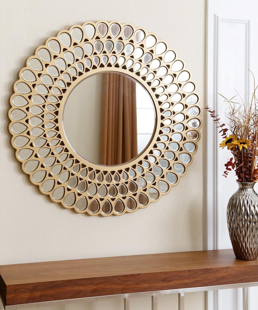 10 Dazzling Round Wall Mirrors To Decorate Your Walls Throughout Circular Wall Mirrors (Image 3 of 20)