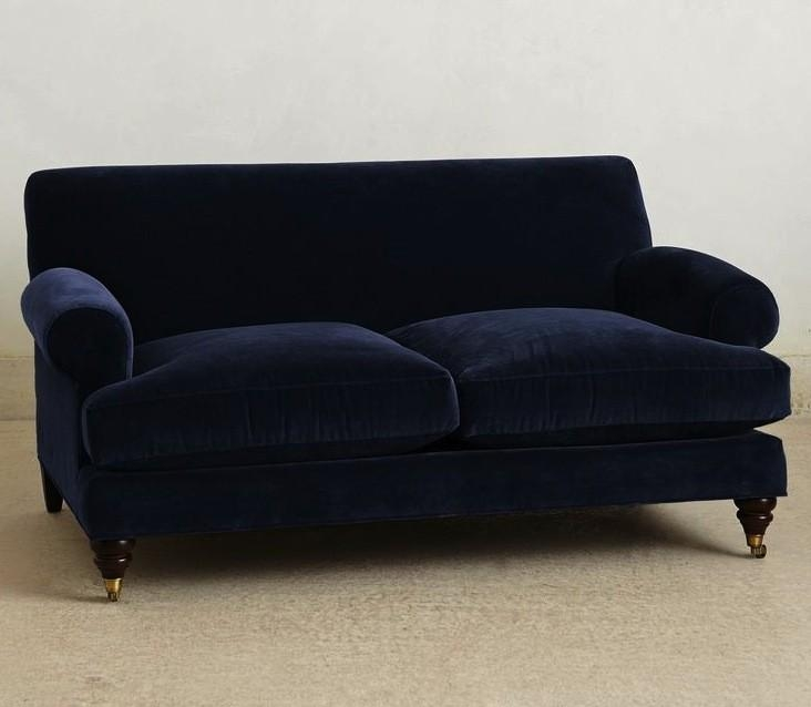 10 Easy Pieces: The Blue Velvet Sofa, Luxe Edition – Remodelista In Luxe Sofas (View 15 of 20)