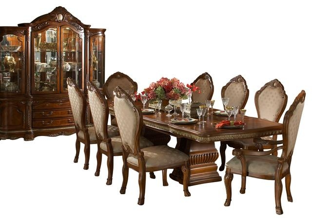 10 Piece Cortina Rectangular Dining Room Table Set With China In Rectangular Dining Tables Sets (View 20 of 20)