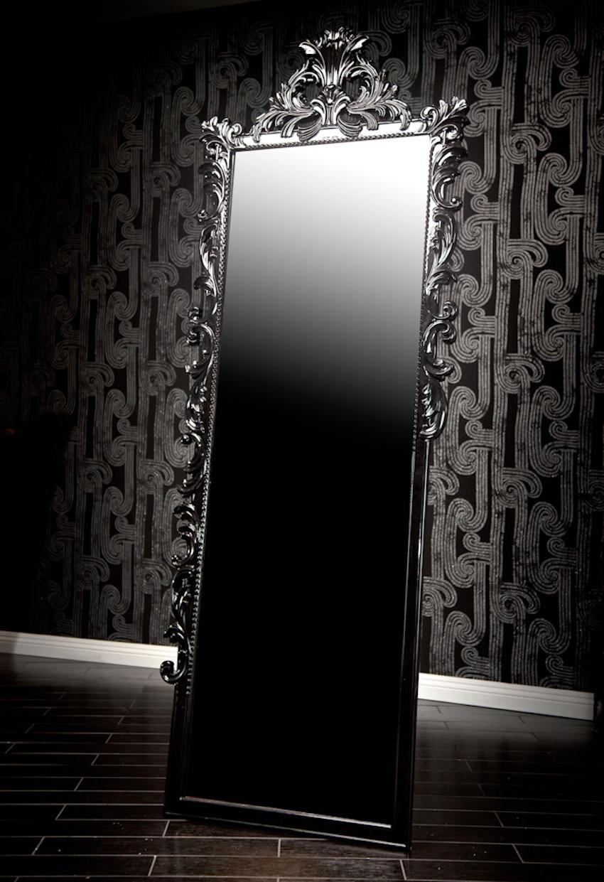 10 Stunning Black Wall Mirror Ideas To Decorate Your Home Throughout Baroque Black Mirror (Image 1 of 20)
