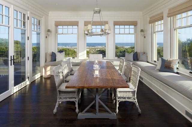 10 Ways: Create A Coastal Beach House Dining Room Within Coastal Dining Tables (Image 1 of 20)