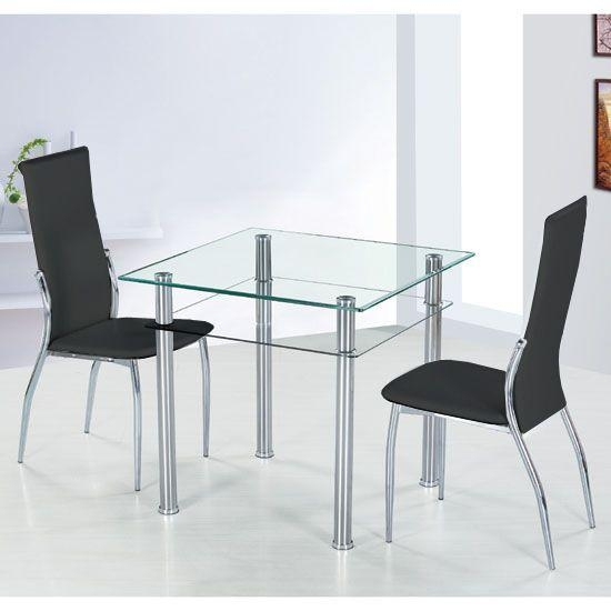 100 Best 4 Seater Glass Dining Sets Images On Pinterest | Dining Regarding Two Seater Dining Tables (View 20 of 20)