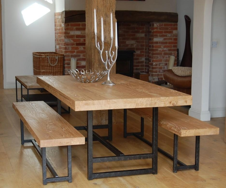 Dining Table With A Bench: 20 Collection Of Dining Tables Bench Seat With Back