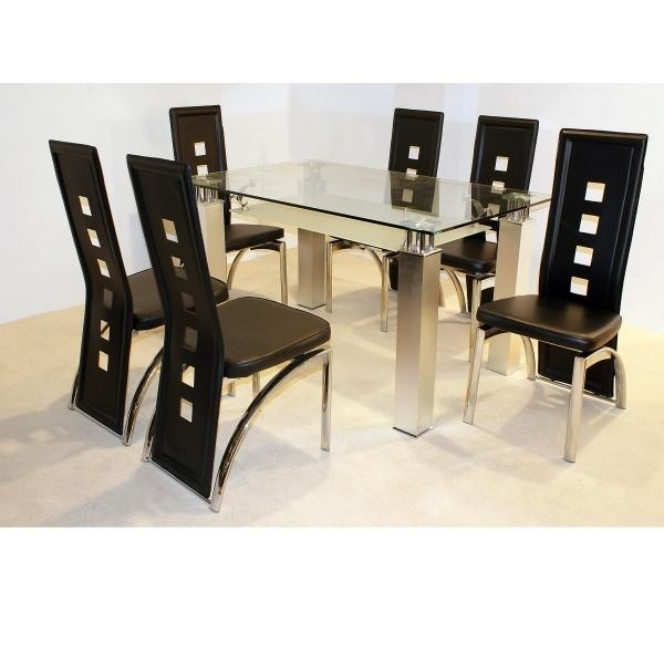 100+ Ideas White Dining Room Dining Table And 6 Chairs For Sale On Intended For Cheap Glass Dining Tables And 6 Chairs (Image 1 of 20)
