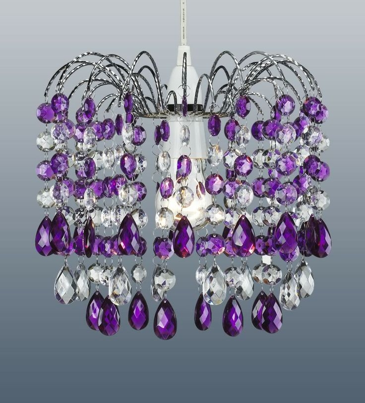 108 Best Lighting Images On Pinterest Within Purple Crystal Chandeliers (Image 1 of 25)