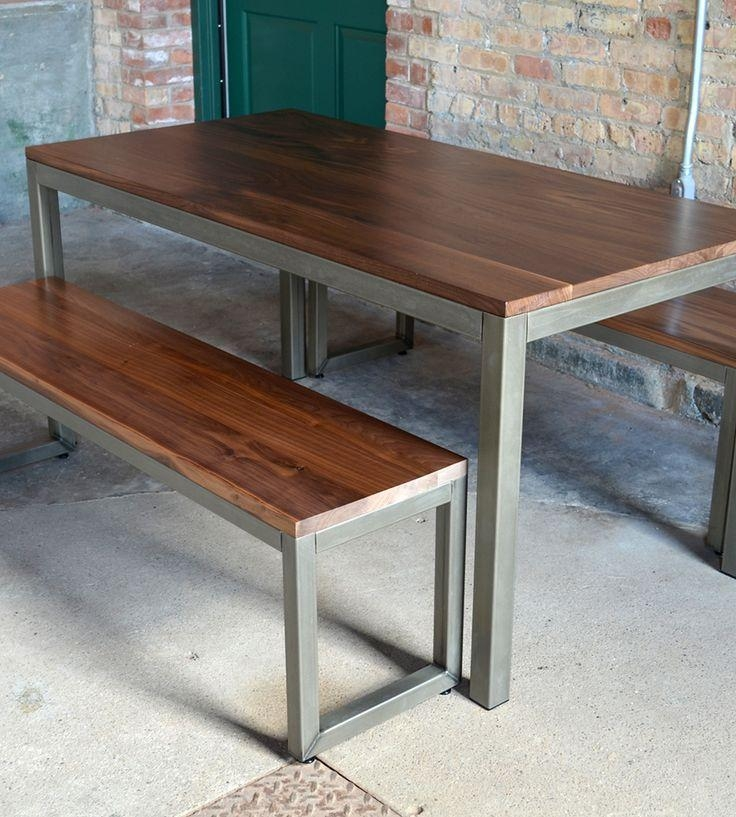 109 Best Moveis Images On Pinterest | Tables, Wood And Dining Room In Dining Tables And 2 Benches (Photo 16 of 20)