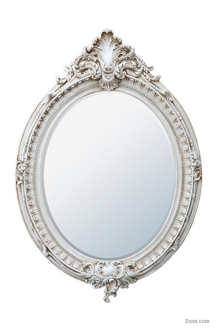 110 Best What Is The Style – French Rococo Mirrors Images On Inside Antique White Oval Mirror (Image 1 of 20)