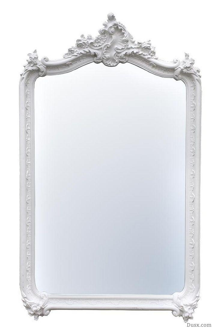 110 Best What Is The Style – French Rococo Mirrors Images On Pertaining To White French Mirror (Image 1 of 20)