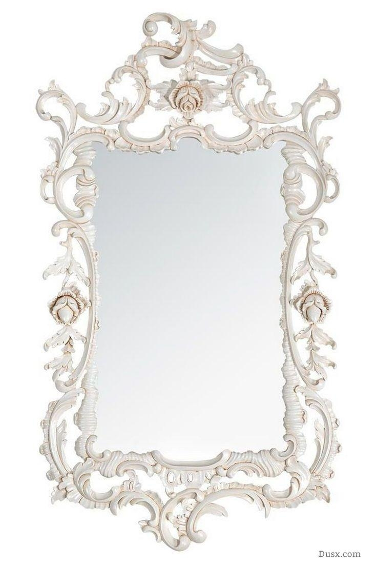 Featured Image of White Rococo Mirror