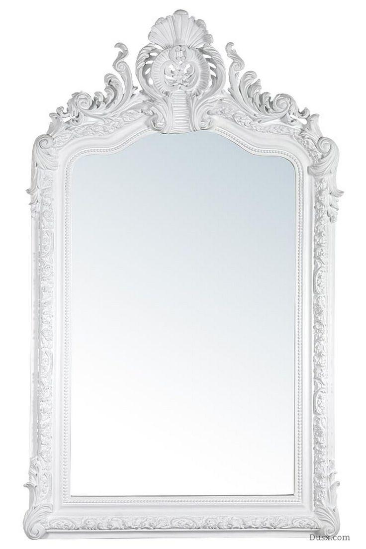 110 Best What Is The Style – French Rococo Mirrors Images On With Regard To White Shabby Chic Mirror Sale (Image 1 of 20)