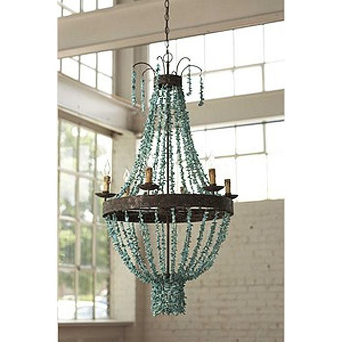 111 Best Diy Chandelier Lighting Ideas Images On Pinterest With DIY Turquoise Beaded Chandeliers (Image 2 of 25)