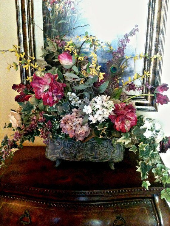 1169 Best Flower Arrangements Images On Pinterest | Flower In Artificial Floral Arrangements For Dining Tables (Image 1 of 20)